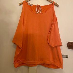 ⬇️ Misslook 3x Coral Cold Shoulder Shirt